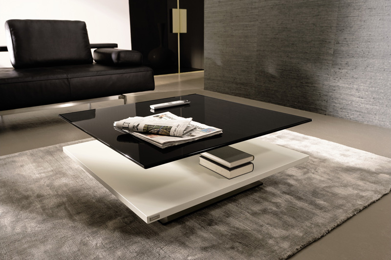 Black glass coffee tables cut to size at table glass online for Contemporary glass top coffee table