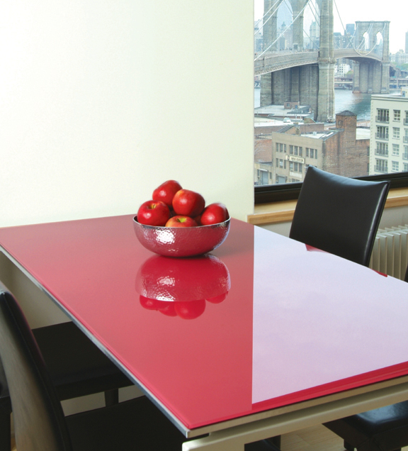 Coloured Table Glass Black White Or Ral Specific Colours