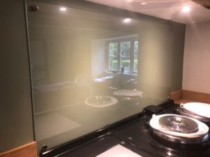 Bespoke Glass Kitchen Splashback