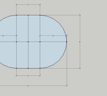 How to measure an oval table top